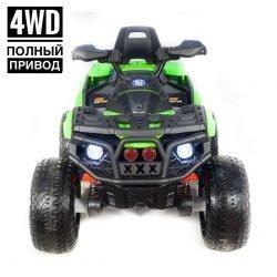 Электроквадроцикл Maverick ATV 4WD черно-зеленый (полный привод, колеса резина, кресло кожа, музыка)