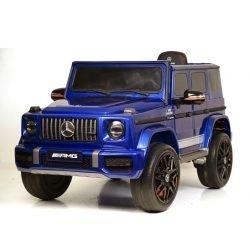Электромобиль Mercedes-Benz AMG G63 K999KK синий глянец (колеса резина, кресло кожа, пульт, музыка)