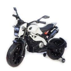 Детский электромотоцикл Harley Davidson - DLS01 белый (колеса резина, кресло кожа, ручка газа, музыка, свет)